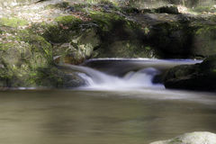 Beautiful slow shutter speed on waterfalls in south wales Royalty Free Stock Photo