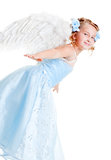 Beautiful small angel Stock Photos