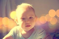 Beautiful Small Baby Portrait Stock Image