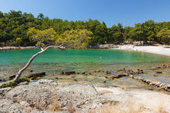Beautiful small bay and beach. Stock Image