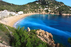Beautiful small bay in Ibiza. Stock Photo