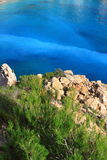 Beautiful small bay in Ibiza. Stock Photos