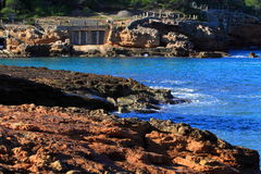 Beautiful small bay in Ibiza. Royalty Free Stock Photo