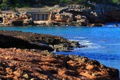 Beautiful small bay in Ibiza. Royalty Free Stock Photo
