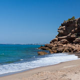 Beautiful small beach in Spain Stock Photography
