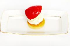 Beautiful small cake on white background Stock Photo