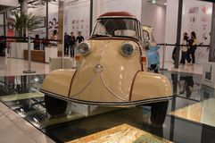 Sorocaba, Brazil thirty august two thousand and fourteen. Small. Beautiful small car in the exhibition royalty free stock photo