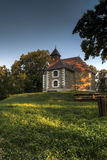Beautiful small church in the woods Royalty Free Stock Photography