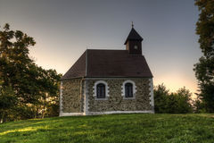 Beautiful small church in the woods Royalty Free Stock Photos