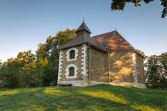 Beautiful small church in the woods Stock Photo