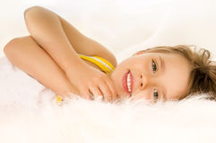 Beautiful small  girl Royalty Free Stock Image