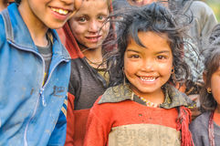 Beautiful small girl in Nepal Stock Photography