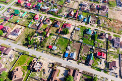 Beautiful small green village from above Royalty Free Stock Image