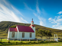 Beautiful small Icelandic church in the countryside Royalty Free Stock Photos