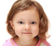 Beautiful small kid girl looking Royalty Free Stock Image