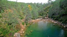 Beautiful small lake stock footage
