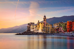 Beautiful Small Mediterranean Town at the sunrise Royalty Free Stock Image