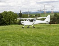 Beautiful small private aircraft with propeller Royalty Free Stock Photos