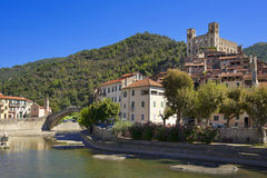The beautiful small town of Dolceacqua, near Sanremo, Liguria, I Royalty Free Stock Photography