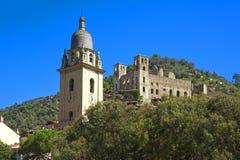 The beautiful small town of Dolceacqua, near Sanremo, Liguria, I Royalty Free Stock Image