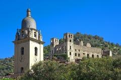 The beautiful small town of Dolceacqua, near Sanremo, Liguria, I Stock Image