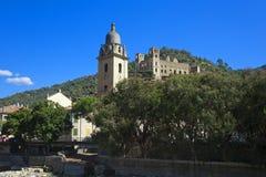 The beautiful small town of Dolceacqua, near Sanremo, Liguria, I Royalty Free Stock Photos