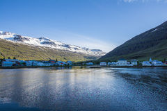 Free Beautiful Small Town Seydisfjordur On Eastern Iceland Stock Photography - 62629312