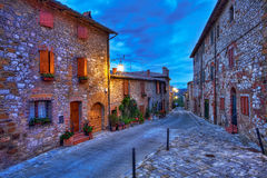 Beautiful small town in Tuscany, Italy Stock Images