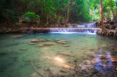 Beautiful small Waterfall, Erawan National Park, Thailand Royalty Free Stock Photo
