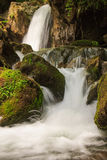 Beautiful small waterfall landscape in the mountains. Stock Photography