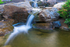 Beautiful small waterfall Royalty Free Stock Image