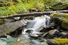 Beautiful small waterfall on the South Island of New Zealand Stock Photo