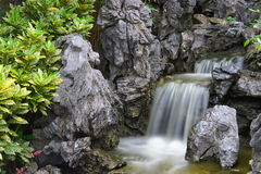 Beautiful small waterfall Stock Photos