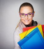 Beautiful smart student Royalty Free Stock Photo