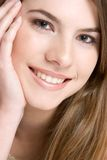 Beautiful Smile. Pretty woman with beautiful smile royalty free stock photography