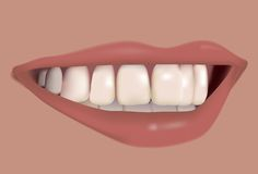 Beautiful smile. Vector. With mesh Stock Image