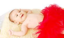 A beautiful  smile  ballet  baby Stock Photo