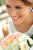 Beautiful smile from beautiful woman Stock Photos