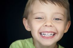 Beautiful smile of a child. stock images