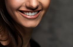 Beautiful smile. Closeup view of beautiful smile Royalty Free Stock Photo