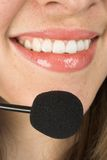 Beautiful smile - customer services Stock Photography