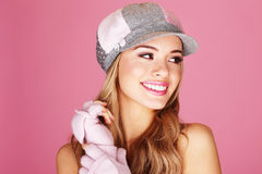 Beautiful Smile From Pretty Lady Stock Images