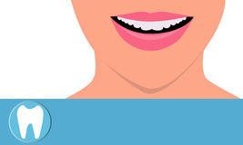 Beautiful smile. Girl with beautiful white teeth smiling Royalty Free Stock Photos