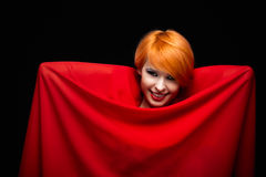 Beautiful Smile in red Royalty Free Stock Image