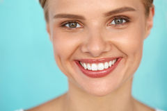 Beautiful Smile. Smiling Woman With White Teeth Beauty Portrait. Royalty Free Stock Images