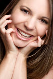 Beautiful Smile Woman. Happy beautiful pretty smile woman stock images