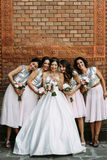 Beautiful smiles of the bride and her friends Stock Image
