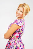 Beautiful smiley blonde Stock Images