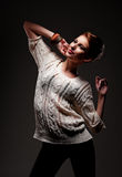 Beautiful smiley model posing Stock Image