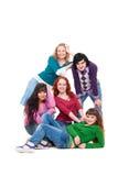 Beautiful and smiley teenagers Stock Image